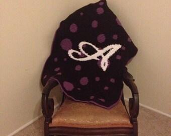 Crocheted Initial Blanket
