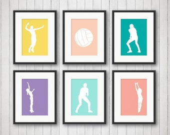 volleyball bedroom decor girl sports decor volleyball print teen room childrens room. beautiful ideas. Home Design Ideas