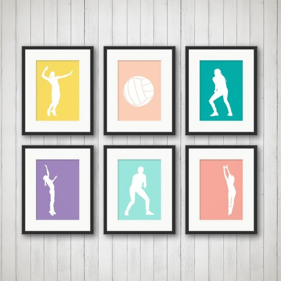 Volleyball Bedroom Decor Girl Sports Decor Volleyball Print Teen