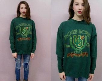 University of Oregon Sweatshirt//Rose Bowl1995 U of O collegiate football Oregon Ducks top shirt//see measurements