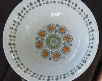 "Vintage 1960's Staffordshire Broadhurst Ironstone Kath Winkle design ""Rennaiscence""  Cereal Bowl"