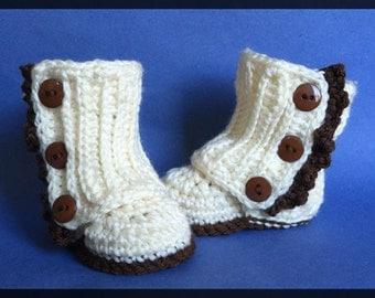 Ivory Wrap Boots