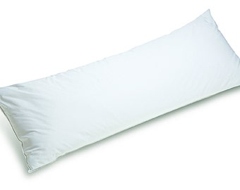 """Body Pillow 20""""X 54"""" 100%  Hungarian DOWN, 700 FP, 440 TC (includes zippered pillow case)"""