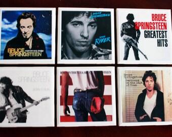 Bruce Springsteen Ceramic Tile Coasters Set of 6