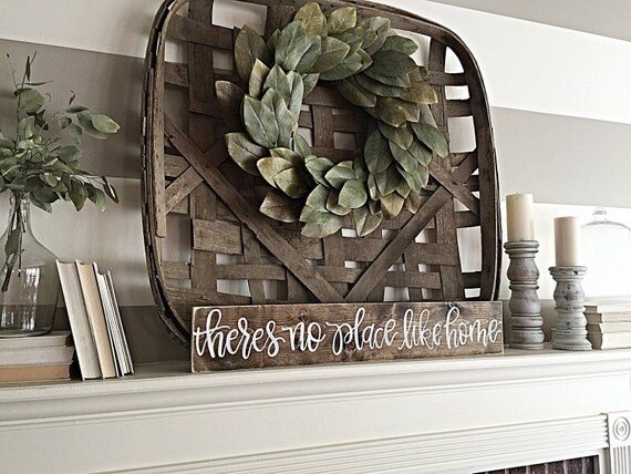 No Place Like Home | Rustic Home Decor | Wood Sign | Hand Painted | Shabby Chic | Mantel Decor