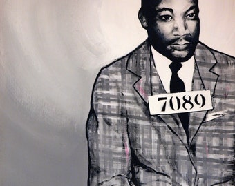 Martin Luther King A4 & postcard