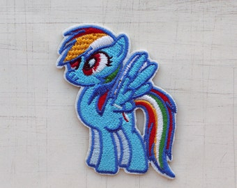 5 x 7cm, My Little Pony Rainbow Dash Iron On Patch (P-095)