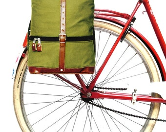 Klist, the retro foldable bicycle pannier and messenger bag, water-repellent canvas. Not only for cyclists!