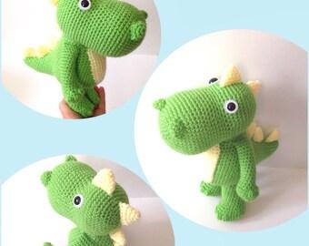 Amigurumi Dinosaur Crochet Dinosaur Crochet Doll Crochet T- Rex Doll Toy Kids Toy Nursery Decor Birthday Gift for Kids Baby Shower Gift Idea
