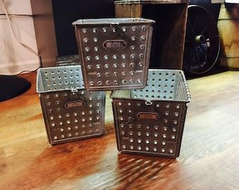 Vintage Androck Incoporated Metal Locker Baskets