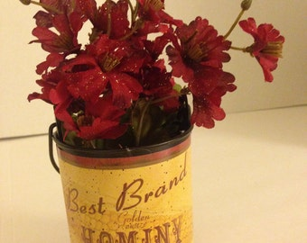 Can Floral Arrangement Best Brand Hominy Burgundy #108