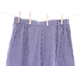 Vintage Navy Blue Plaid Pants