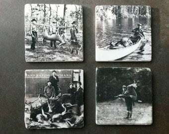 Vintage deer hunters