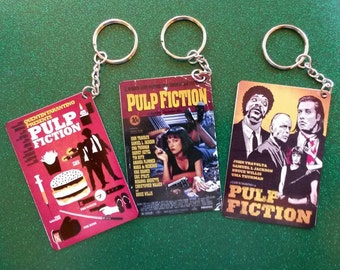 Pulp fiction poster keychains