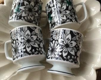 Vintage 70s floral mugs