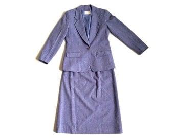 Vintage Pendleton Women's Periwinkle 2 pc Suit Skirt & Jacket