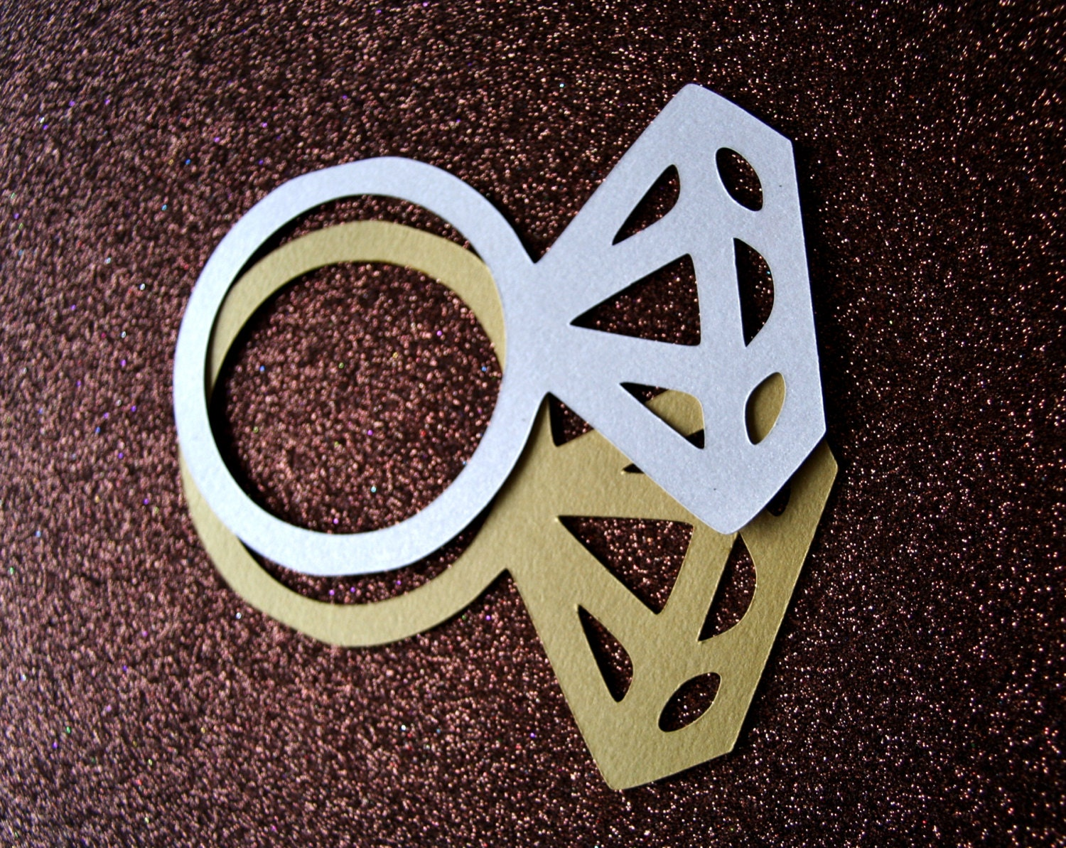 Laser Cut Paper Shapes Wedding Ring