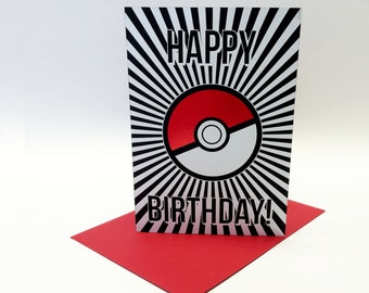 pokemon birthday, Birthday card