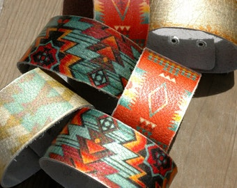 "1"" Leather Cuff Bracelet - Cuff Wristband -12 Cuff- Blank- Vintage leather"