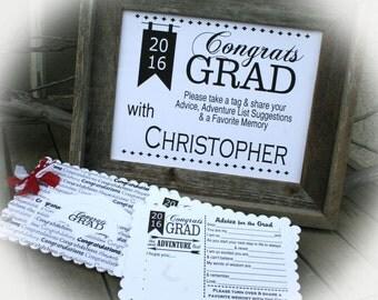 Graduation Party Idea, Grad Party Idea, GRAD-Q, Grad Party Decor, Graduation Party Decorations, Wishes for the Grad, 2016 Grad