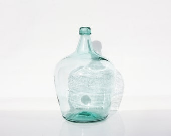 """Turquoise color Demijohn height 15,15"""""""
