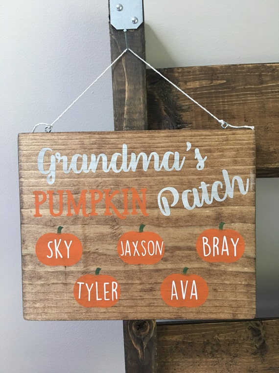 Grandmas pumpkin patch fall decor sign halloween decor like this item fandeluxe Images