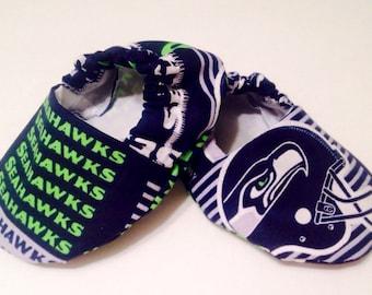 Seattle Seahawks baby booties, seahawks baby shoes, seahawks baby booties