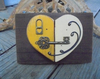 OOAK Heart Art,Victorian Heart Art,Bridesmaid Gift,Wedding Gift,Anniversary Gift, Home Decor, Wall Hanging, Upcycle, Recycle