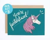 Boxed Set - You're Fantastical - Unicorn Thank You, Thank You Card, Boxed Set, Funny Thank You, Unicorn Card - CB-226