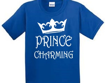 Disney Prince Charming Boy's and Toddler T-Shirt / Disney Vacation / Disney Trip / Universal Studios Vacation