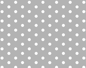 Gray Dots in KNIT, Modern Reflection Collection, BOLT by Girl Charlee, Made in USA, Cotton Jersey Knit Fabric 5630