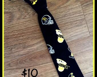 Iowa Hawkeyes Little Boy Handmade Necktie
