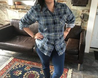 Blue & Cream Flannel Shirt
