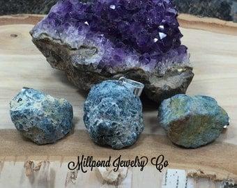 Apatite pendant etsy blue apatite pendant apatite pendant rough blue apatite pendant raw blue apatite pendant mozeypictures Images