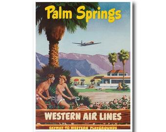 Palm Springs Art Print Travel Poster Vintage Home Decor (XR871)