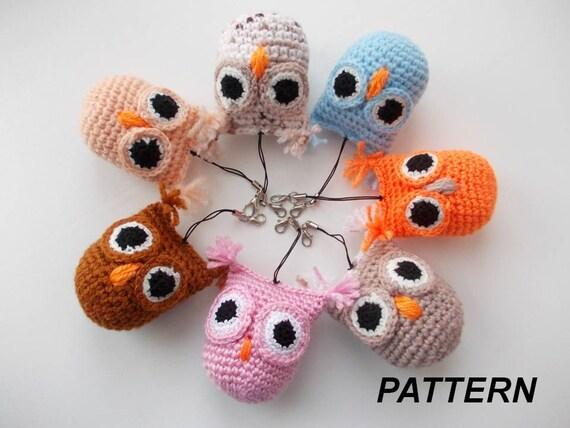 Amigurumi Knit Owl Pattern : PATTERN owl crochet owl amigurumi knitting pattern owl pdf