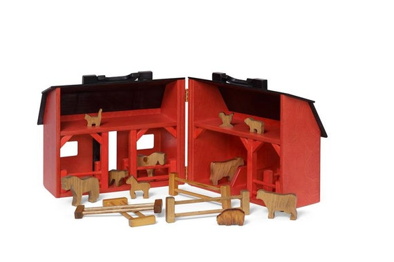Red Barn and Farm Animal Foldout