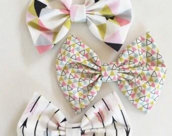 Perfectly Pastel Set - baby bow - infant headband - newborn nylon