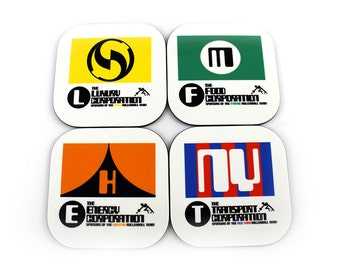 Rollerball: League Teams Movie Coaster Set
