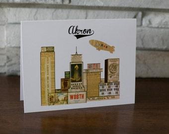 Akron Skyline Note Cards
