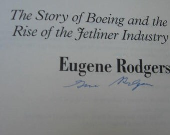 Flying High Story of Boeing Company Book Eugene Rodgers - Jet Age Jetliners Airplanes Aviation Aeronautics History Reference Seattle Vintage