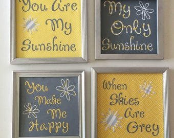 You are My Sunshine Four Frame Set