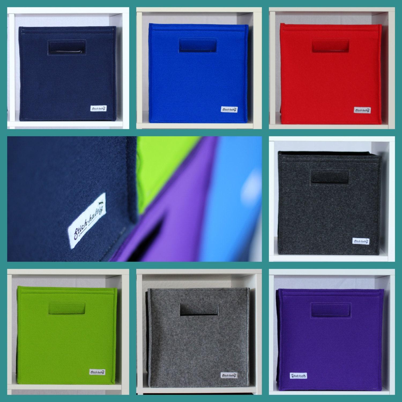 farbige regalbox aus filz aufbewahrung filzbox von stichhaltig. Black Bedroom Furniture Sets. Home Design Ideas
