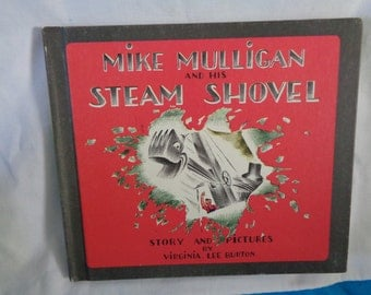 Vintage Mike Mulligan and his Steam Shovel book by Virginia Lee Burton