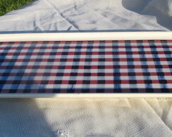 Villeroy & Boch Plate Platter Tray Checkered Marked Sarre Mettlach Sweet