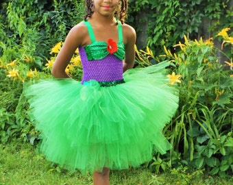 Princess Ariel tutu dress, Ariel Tutu dress, little mermaid tutu dress, under the sea birthday dress, little mermaid birthday tutu