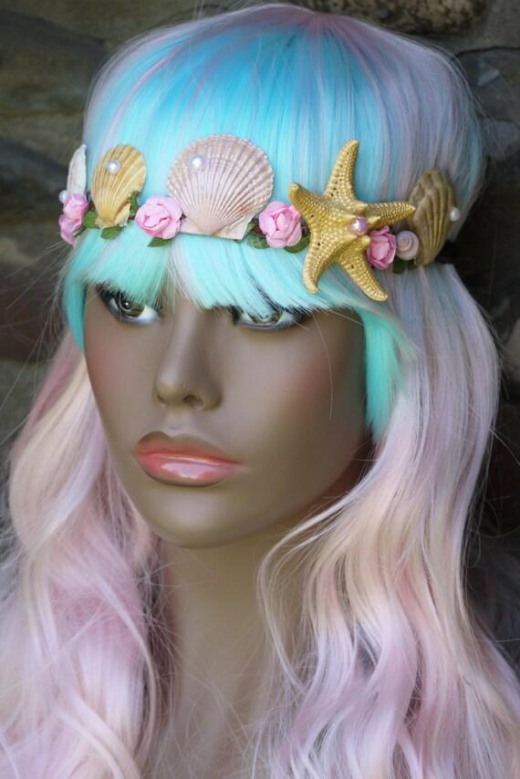 Mermaid headbandmermaid tiaraseashell headbandocean theme for Seashells for hair