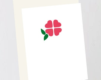 Flower stamp Greeting Card