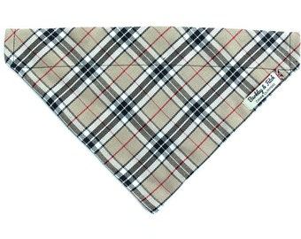 Caramel Plaid Dog Bandana