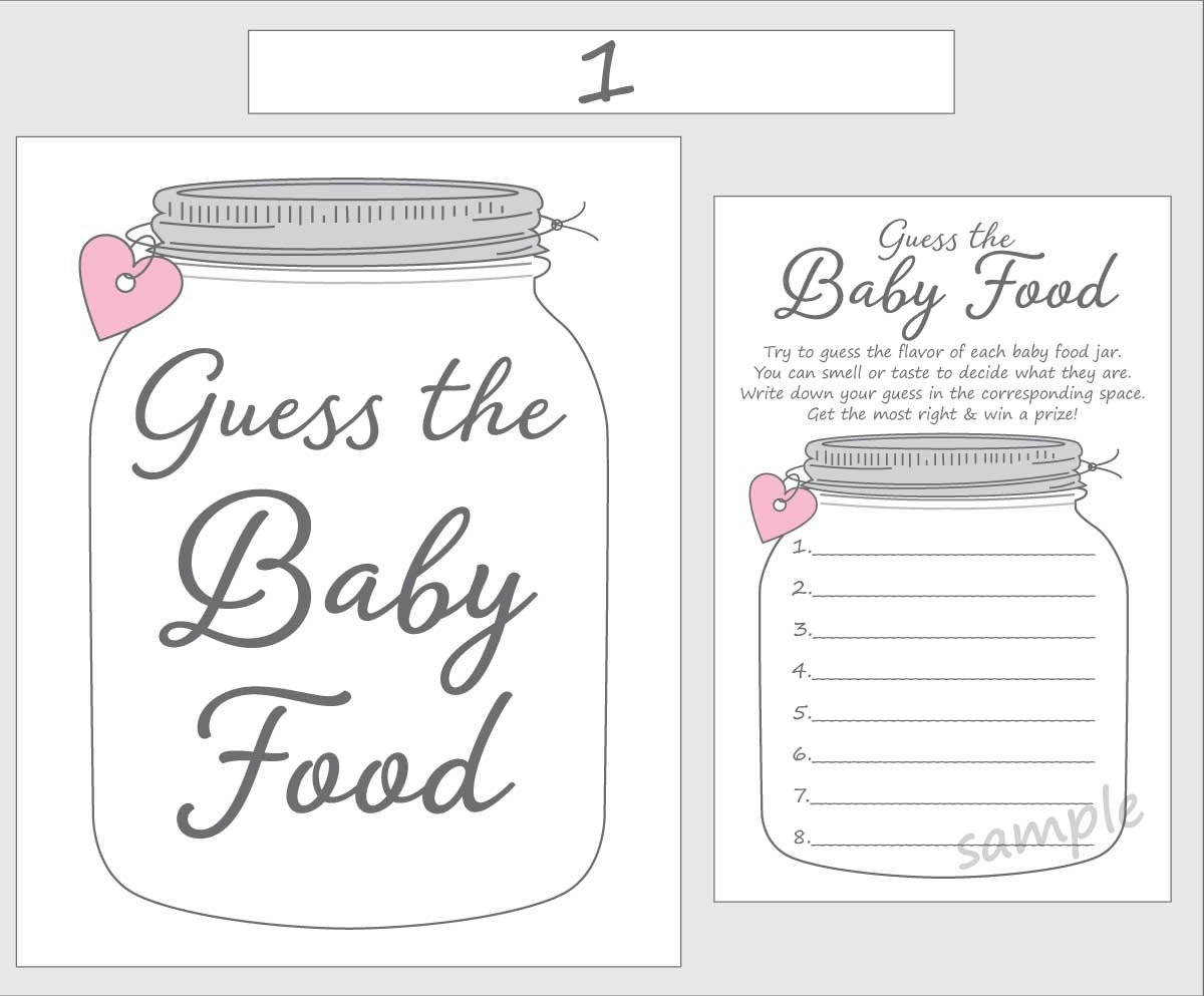 Transformative image in guess the baby food game printable